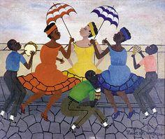 Heitor dos Prazeres - Frevo – 1966 - Óleo sobre tela e eucatex – 46 x 55cm - Museu Internacional de Arte Naife do Brasil