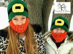 Lucky Leprechaun Beard Hats