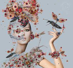 'In a magical fashion'-Artist Tina Cassati's interview to Sybilia's F. Art And Illustration, Claudia Tremblay, Modern Art, Contemporary Art, Gcse Art, Arte Floral, Artist Art, Art World, Mixed Media Art