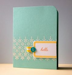 love the shape and the colors of this card