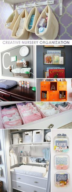 Creative Nursery Organization Ideas Organizing can be tricky in the nursery. Some clever moms and dads in our PN community have come up with very creative nursery organization ideas. Baby Room Decor, Nursery Room, Girl Nursery, Baby Nursery Furniture, Children Furniture, Bedroom, My Baby Girl, Baby Kind, Nursery Closet Organization