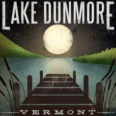 Made to Order  LAKE DUNMORE Moonlight Giclee by nativevermont, $39.00
