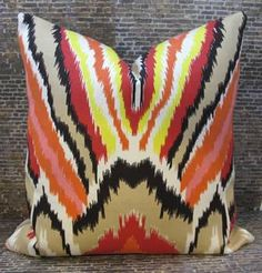 Trina Turk Designer Pillow Cover - 16 x 16 - Peacock Punch. $50.00, via Etsy.