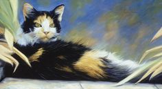 Cat Print featuring the painting Princess Of The Garden by Lucie Bilodeau