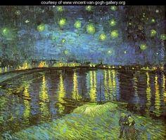 Starry Night Over The Rhone - Vincent Van Gogh - www.vincent-van-gogh-gallery.org