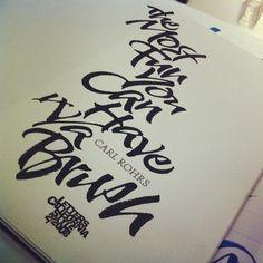 Carl Rohrs Brush lettering