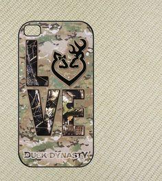 Duck dynasty, camo love deer Iphone 4 case,