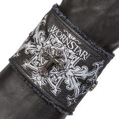 8bd06bd94d6d3 Leather Cuff Wristband WSCWB-146 http   www.wornstar.com