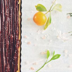 Tarta de Ganache + Naranja + Sal Maldon | Confieso que Cocino