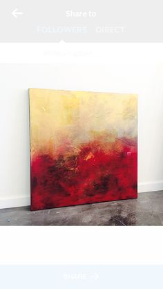 Red Abstract Painting Brittany Lee Howard Abstract Painting Modern, Abstract Oil, Abstract Landscape, Red Art, Color Grading, Grey Top, Brittany Lee, Yellow Painting, Arte Popular