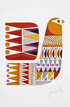 38 ideas folk bird illustration print patterns for 2019 Bird Illustration, Illustrations, Site Art, Arte Tribal, Scandinavian Folk Art, Art Graphique, Grafik Design, Fabric Painting, Screen Printing