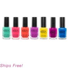"""Day-glo polish! I got the color """"Lava Lamp"""" in my Birchbox.  It is crazy bright and I love it!"""