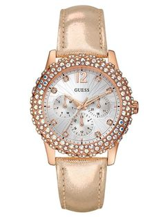 2604a2f5ed3 GUESS DAZZLER | W0336L4 Cool Watches For Women, Cute Watches, Elegant  Watches, Women's