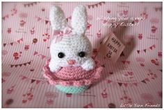 Amigurumi Bunny Cupcake - FREE Crochet Pattern / Tutorial