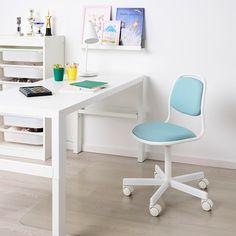 Orfjall Chaise De Bureau Enfant Blanc Vissle Bleu Vert Ikea Childrens Desk And Chair Kids Desk Chair Childrens Desk