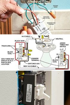 Learn how to replace and wire switches and dimmers with tips to work safely and save money. Electrical Switch Wiring, Electrical Wiring Diagram, Electrical Outlets, Residential Wiring, Wire Switch, Electrical Projects, Electrical Engineering, House Wiring, Electric House