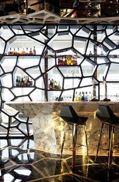Amazing!!  modern Honeycomb bar