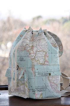 World map prints backpackatlas large backpacktravelschooldaily world map prints backpack by leyyabags gumiabroncs Gallery