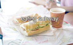 omfg. I freaking LOVE Subway. Februany. Anytober. Yepp.