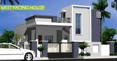 Parbhani Home Expert: West Facing House Elevation House Balcony Design, House Outer Design, Single Floor House Design, Modern Small House Design, Kerala House Design, House Front Design, West Facing House, Modern Bungalow House, Duplex House