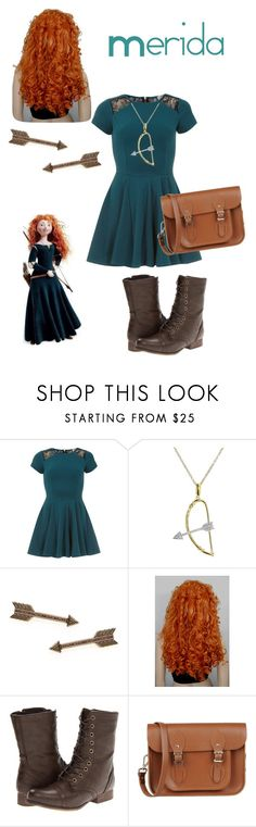 """Merida"" by fashionista7331 ❤ liked on Polyvore featuring Merida, Closet, India Hicks, House of Harlow 1960, Madden Girl and The Cambridge Satchel Company"