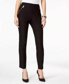 Thalia Sodi Zip-Pocket Skinny Pants, Only at Macy's