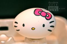 Hello Kitty Easter Egg Drawn in with Watercolour Pens