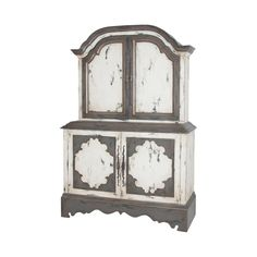 Crossroads European White and Garden Gate Media Cabinet, .Combination Pack