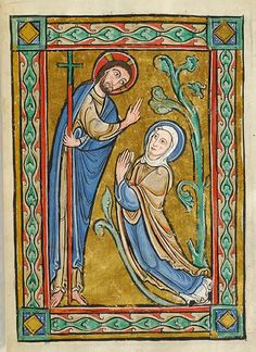 Noli Me Tangere from Miniatures of the Life of Christ French (Northeastern France), 1170-1180 New York, Morgan Library MS M44, fol. 12r