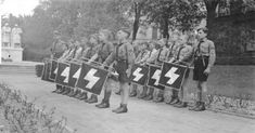 [Photo] Hitler Youth members standing in formation, Worms, Germany, Nuremberg Rally, Ww2 German, History Of Germany, Modern World History, Invasion Of Poland, German People, Military Photos, Military Men, The Third Reich