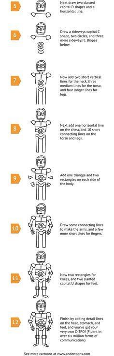How To Draw C3PO