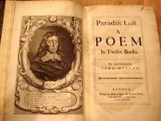 "Antique manuscript ""Paradise Lost"" - John Milton"