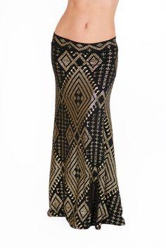 Faux Assuit Cleopatra Maxi Skirt