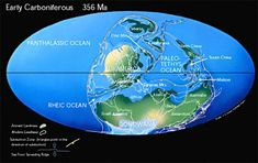 During the Early Carboniferous Pangea Begins to Form. During the Early Carbonife. - Geology - During the Early Carboniferous Pangea Begins to Form. During the Early Carboniferous the Paleozoic - Economic Geography, History Of Earth, Origin Of Species, Homo Habilis, Gold Book, Plate Tectonics, Earth From Space, Middle School Science, Prehistory