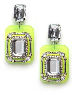Neon and rhinestone! electric bling #DIY