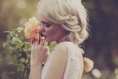 ~ simple pose  apple cheeked blossom — JULIA TROTTI