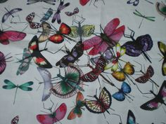 """CHRISTIAN LACROIX CRAFT FABRIC REMNANT """"MARIPOSA"""" 108 X 145 CM 100% COTTON in Crafts, Sewing & Fabric, Fabric 
