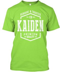 Kaiden Name Lime T-Shirt Front