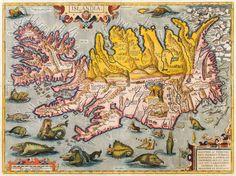 Abraham Ortelius Islandia, ca 1590