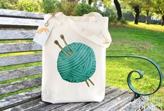 Blue Wool Fair Trade Tote Bag Reusable Shopper by ceridwenDESIGN
