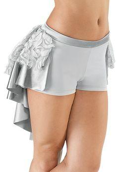 Ribbon mesh bustle shorts balera more high low bustle bal mesh bustle
