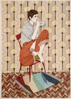 """This artwork belongs to Girls Drinking series that the artist Ana Jaren has popularized, in it the creator tries to """"teach women who dedicate time to themselves, who need their space to meet; and they do it by savoring their favorite drink, which warms their bodies and comforts their souls"""". An artwork that retained a moment, made with a marker on paper, thorough and contemporary. #design #fashion #art #interiorism #illustrator #anajaren #drawing #onlinegallery #artonline Framed Words, Gallery Website, List Of Countries, Online Art Gallery, Marker, Contemporary Design, Bodies, Fashion Art, Original Artwork"""