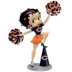 Handbell: Three Boop-Oop-A-Doops For The Chicago Bears Betty Boop Handbell
