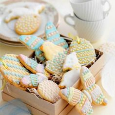 food recipes, biscuit recipes, easter recip, biscuits cookies, bake, iced biscuits, boxes, cookie cutters, easter biscuit