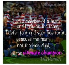 The TEAM is the ultimate champion!