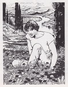milo-manara:    This is a drawing of Milo's close friend Andrea Pazienza who died in 1988.  Andrea was an amazing artist. if you don't know his work i strongly suggest you check it out.
