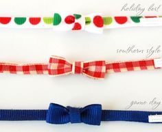 DIY elf on the shelf bow tie tutorial on The Celebration Shoppe. Tutorial by Mirabelle Creations
