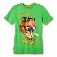 Target- Boys' Dino Graphic Tee - Green
