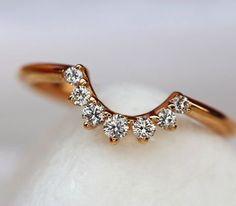 Rose gold diamond band by David Klass Jewelry.