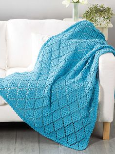 What's New - Crochet - Textured Diamond Throw